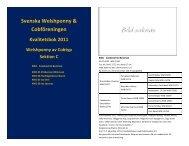 2011 - Svenska Welshponny & Cobföreningen