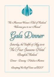 Gala Dinner - American Women's Club of Thailand
