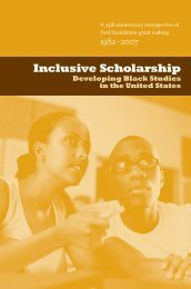 Inclusive Scholarship: Developing Black Studies - Ford Foundation