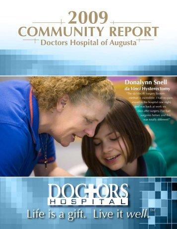 COMMUNITY REPORT - Doctors Hospital