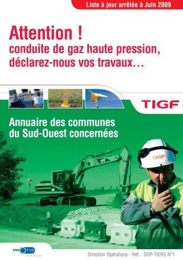 annuaire 03-2009 - Tigf