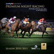 PREMIUM NIGHT RACING - Moonee Valley Racing Club