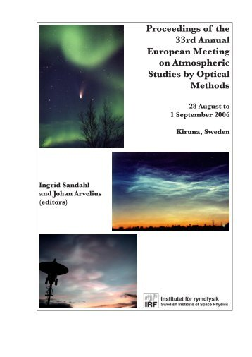 Proceedings of the 33rd Annual European Meeting on Atmospheric ...