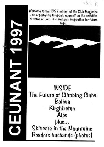 1997 Magazine - Ceunant Mountaineering Club