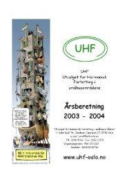 UHFs Årsberetning - UHF-Oslo
