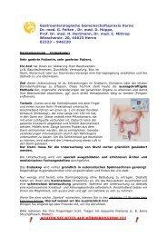 Coloskopie - Gastroenterologische Gemeinschaftspraxis Herne