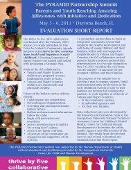 (PYRAMID) Partnership Summit 2011 Overall Evaluation - National ...