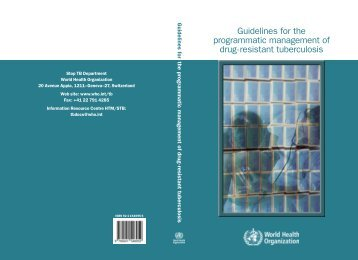 Guidelines for the programmatic management of drug-resistant ...