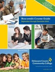 Non-credit Course Guide - Delaware County Community College
