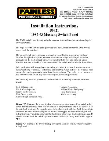 installing painless wiring kit installing image wire harness installation instructions painless performance products on installing painless wiring kit