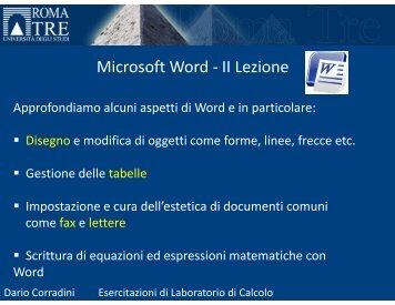 (Microsoft PowerPoint - Esercitazione_Word_2 [modalit\340 ...