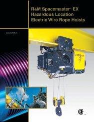 R&M Spacemaster EX: Hazardous Location Electric Wire Rope Hoists