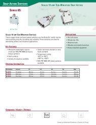 ITW Switches Product Catalog - Engelking Elektronik GmbH