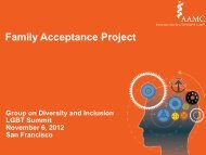 Family Acceptance Project - AAMC