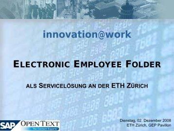 Unterschriftenkontrolle ETH Zürich