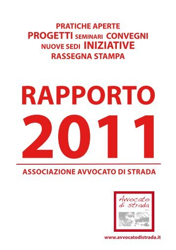 rapporto 2011 - Avvocato di strada