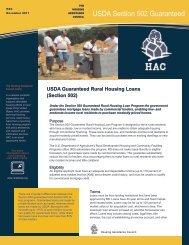 Guaranteed Rural Housing Loans (Section 502)