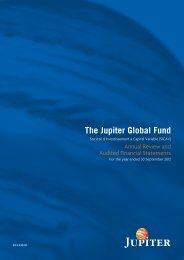 The Jupiter Global Fund - Jupiter Asset Management