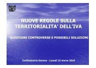 nuove regole sulla territorialita' dell'iva - Confindustria Genova