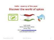 Sunil Joseph Advisor PDS Organic Spices Kerala, India ... - BioFach
