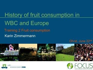 History of fruit consumption in Western Balkans ... - Focus-Balkans
