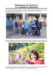 Herbstcamp der Junioren C - FC Hasle-Rüegsau