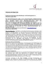 PRESSE-INFORMATION - Gefässforum Österreich
