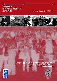 human development report - Centrum pro sociální a ekonomické ...