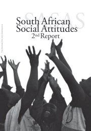 South African Social Attitudes - DataFirst - University of Cape Town