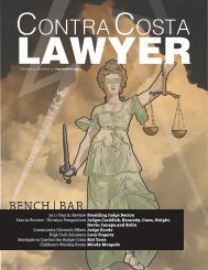 Bench - Contra Costa County Bar Association