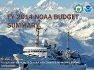 FY 2014 NOAA Budget Presentation