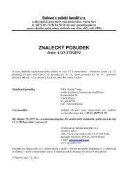 ZNALECKÝ POSUDEK číslo: 4127-273/2012 - e-aukce