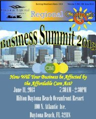 June 2013 Newsletter - Daytona Beach Chamber of Commerce