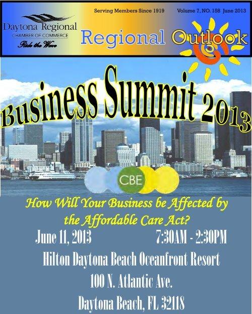 June 2013 Newsletter - Daytona Beach Chamber of Commerce