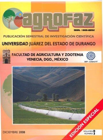 agrofaz 2008.pdf - FAZ - Universidad Juárez del Estado de Durango