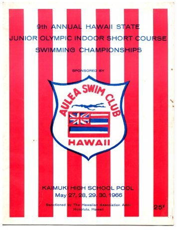 1966 Age Group Short Course Champs - Hawaii Swimming