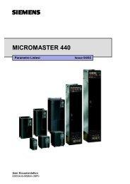 Micromaster 440 Parametre Listesi TR - Teknika Otomasyon