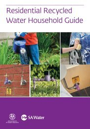 Residential Recycled Water Household Guide - SA Water
