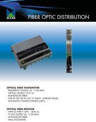 optical fiber distribution - Alcad