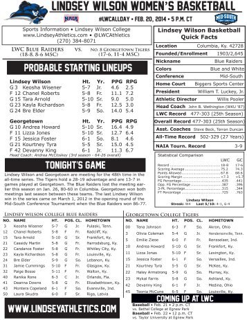 wbb game notes 022014 georgetown