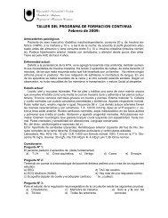 TALLER DEL PROGRAMA DE FORMACION CONTINUA Febrero de ...
