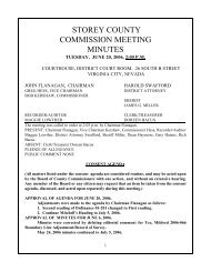 Storey County Commissioners Meeting for June 20, 2006 - Not the ...