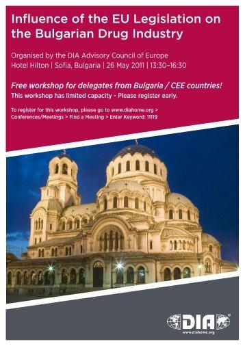 Influence of the EU Legislation on the Bulgarian Drug Industry