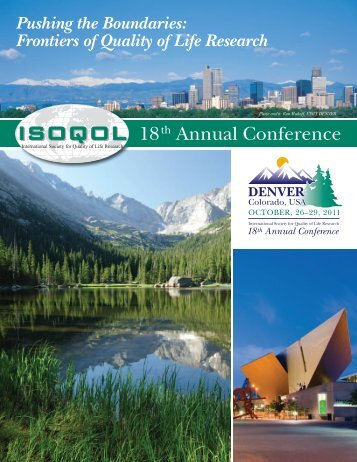 18th Annual Conference - International Society for Quality  of Life ...