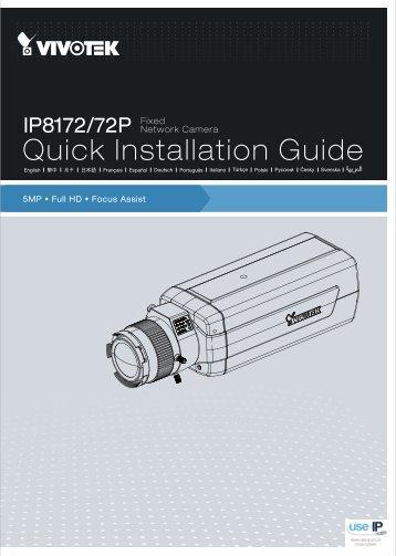 Vivotek IP8172 Fixed Network Camera User Manual - Use-IP
