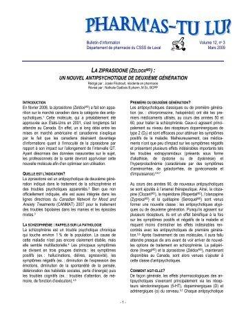 Volume 12 Numéro 3 - Centre de santé et de services sociaux de ...