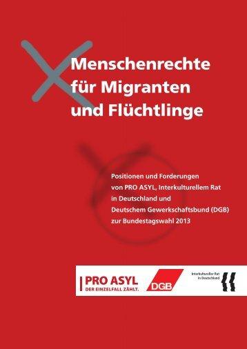Menschenrechte für Migranten und Flüchtlinge - Pro Asyl