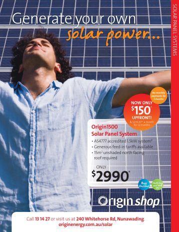 upfront! - Origin Energy