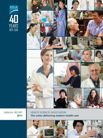ANNUAL REPORT 2011 HEALTH SCIENCES ASSOCIATION The ...