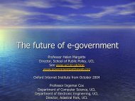 The future of e-government - MIT - Communications Futures Program